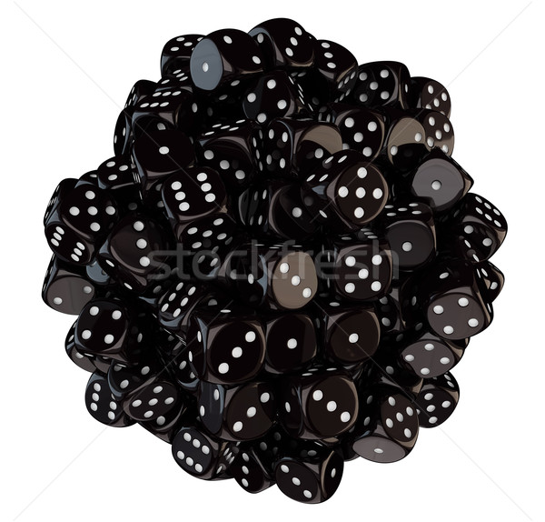 Sphere from black dice Stock photo © timbrk