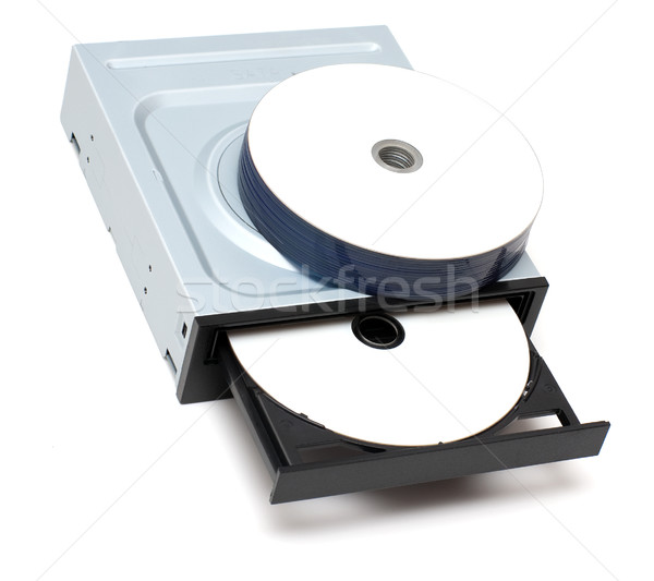 Drive and recordable disks Stock photo © timbrk