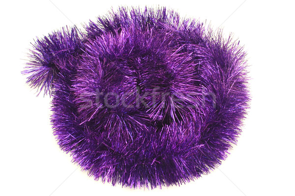 Circle from violet tinsel Stock photo © timbrk