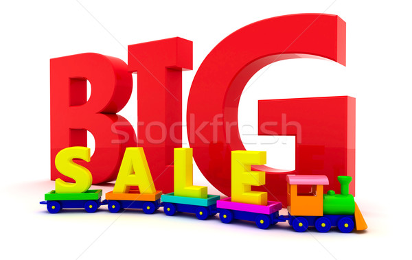 Sale of toys Stock photo © timbrk