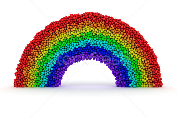 Rainbow from bubbles Stock photo © timbrk