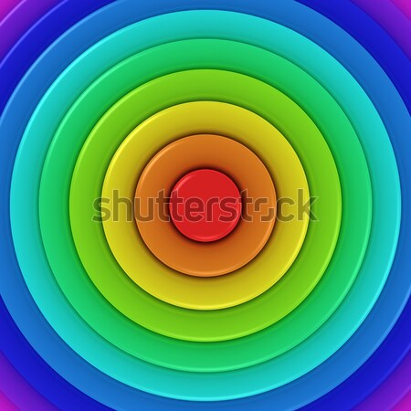 Radial rainbow Stock photo © timbrk