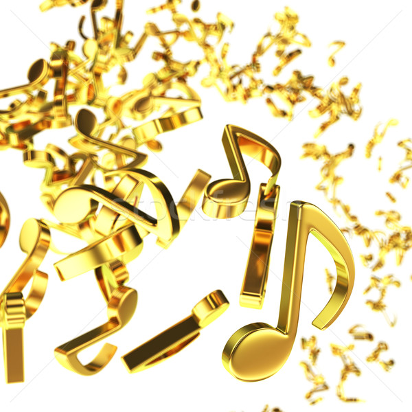 Whirlwind of music Stock photo © timbrk