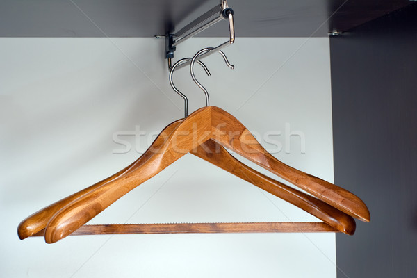 Hangers in closet Stock photo © timbrk