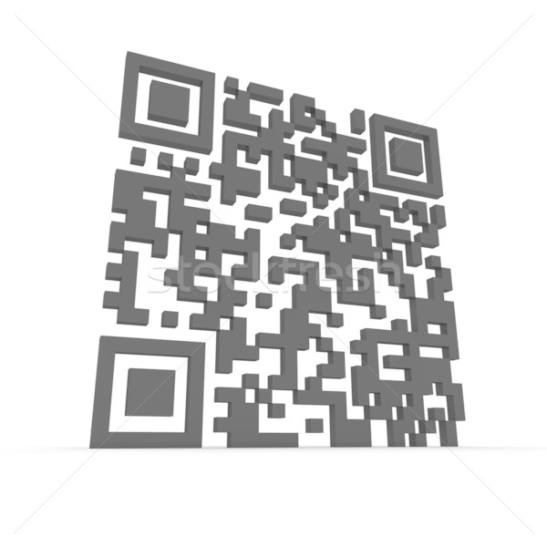 Big 3D QR-code Stock photo © timbrk
