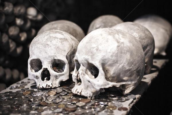 старые монетами Чешская республика смерти белый Сток-фото © timbrk