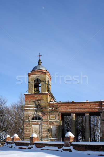 Belltower of church of Ekaterina in Lyalichi Stock photo © timbrk