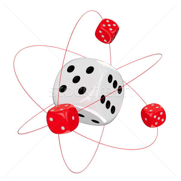 Gambling atom Stock photo © timbrk