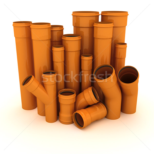 Set of pipes Stock photo © timbrk