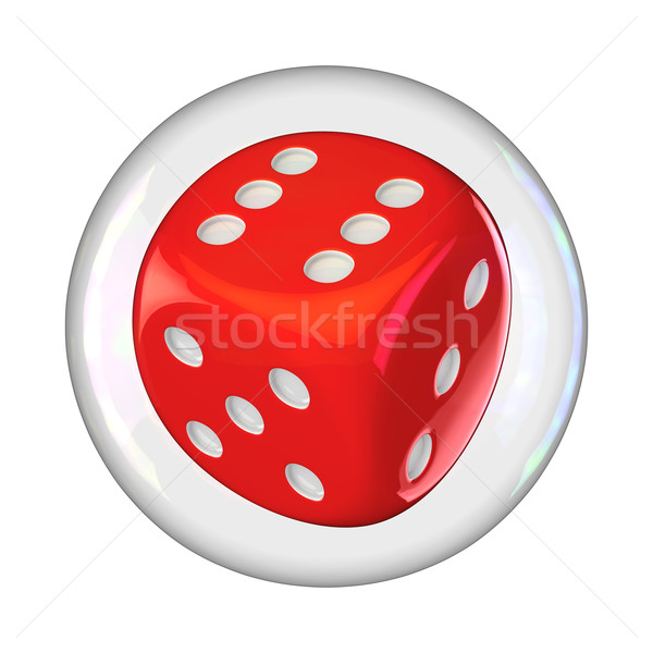 Dice in bubble Stock photo © timbrk