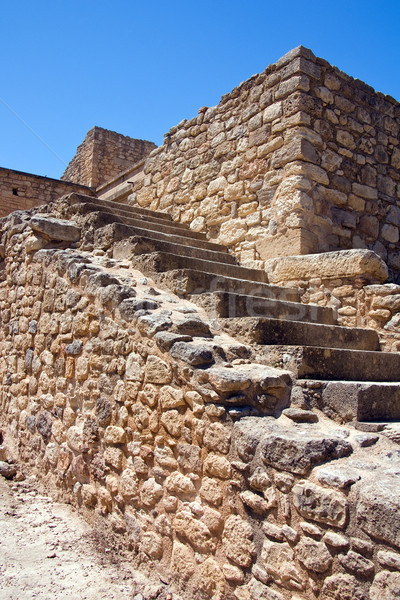 Staircase at Knossos Palace Stock photo © timbrk