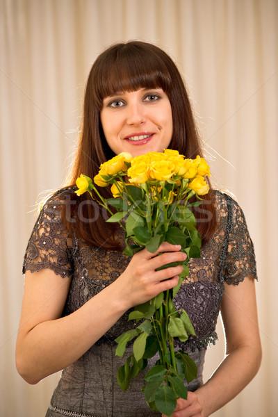 женщину роз желтый Сток-фото © timbrk