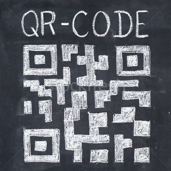 QR-code drawing Stock photo © timbrk