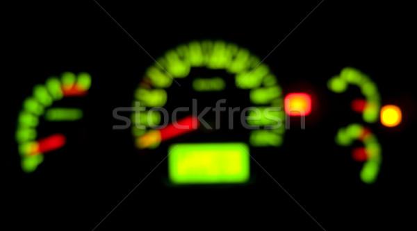 Homály műszerfal autó index megvilágított éjszaka Stock fotó © timbrk
