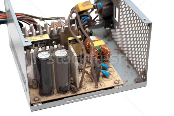 Ouvrir ordinateur source de courant unité couvert poussière Photo stock © timbrk
