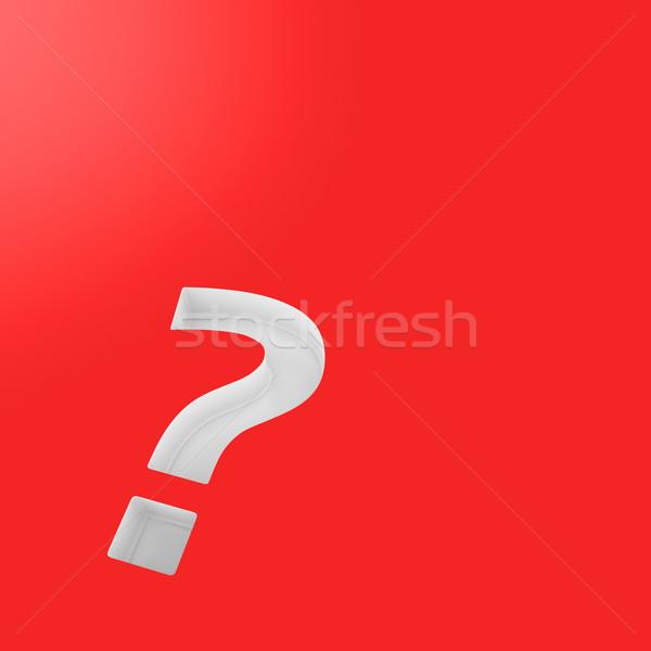 Pergunta vermelho branco ponto de interrogação descobrir símbolo Foto stock © timbrk