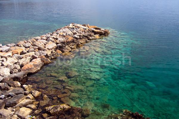 каменные пирс прозрачный морем воды аннотация Сток-фото © timbrk