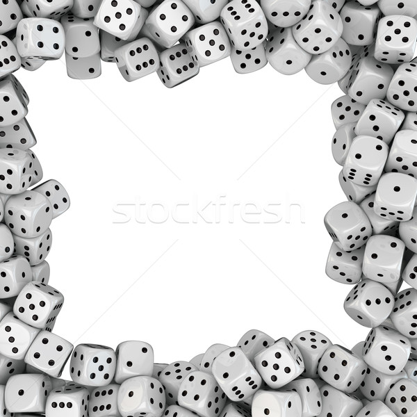 Frame from dices Stock photo © timbrk