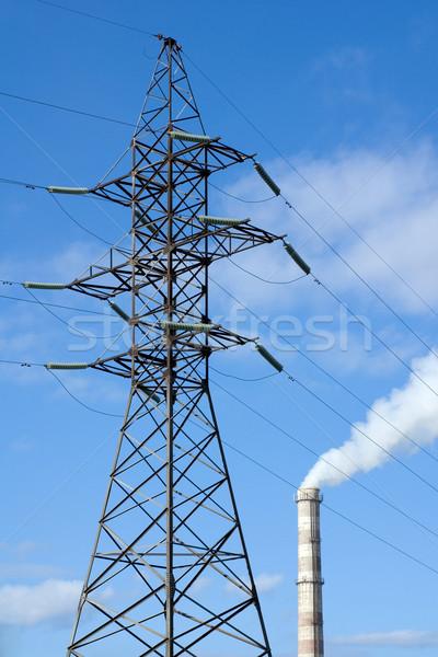 工場 パイプ 電気 喫煙 金属 煙 ストックフォト © timbrk