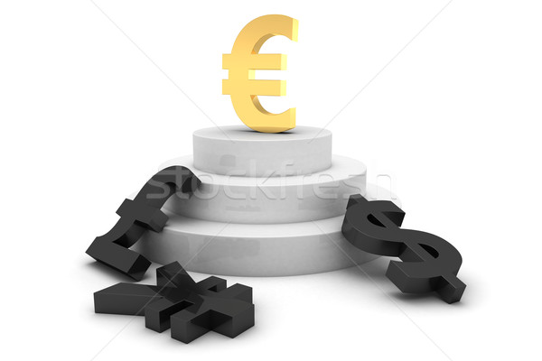 Currency pedestal Stock photo © timbrk
