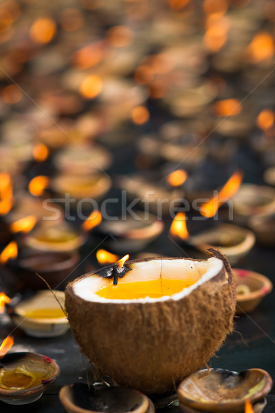 Oil candles Stock photo © timbrk