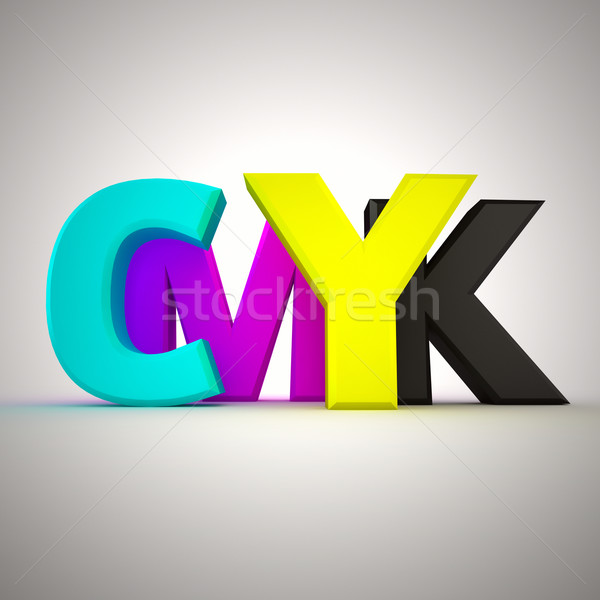 Letters CMYK Stock photo © timbrk