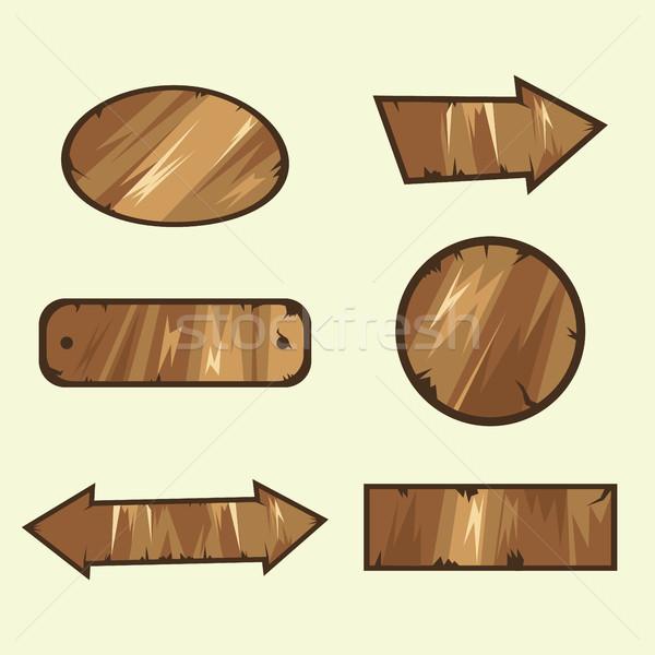 wooden signs Stock photo © tina7shin