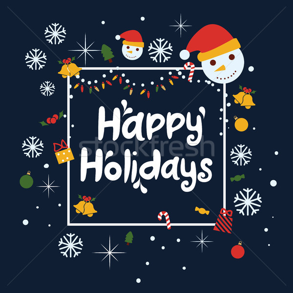 Happy holidays vector background.  Stock photo © tina7shin
