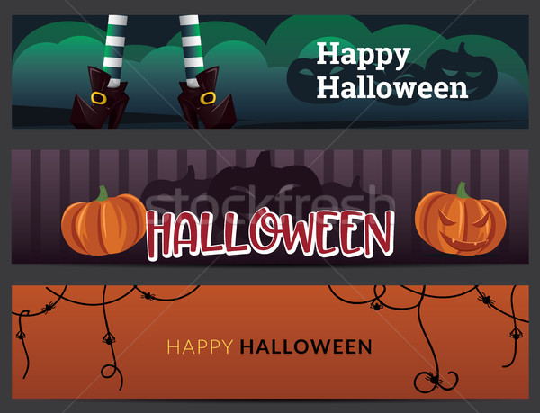 Halloween banners set Stock photo © tina7shin