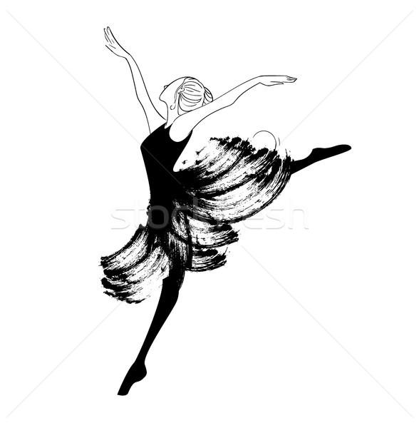 красивой молодые балерины моде карандашом Сток-фото © tina7shin