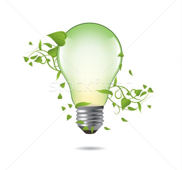 Green ecology bulb concept. Environment vector illustration.  Stock photo © tina7shin