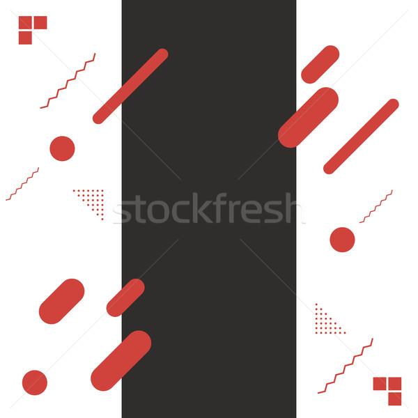Modern absztrakt formák terv elemek vektor Stock fotó © tina7shin