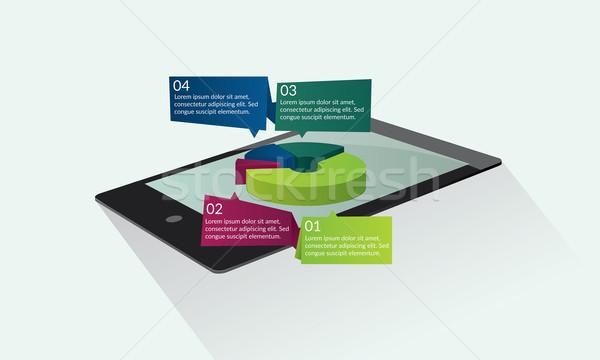 Tablet with pie chart Stock photo © tina7shin