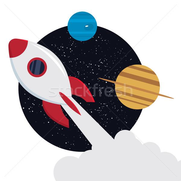 Rocket ship. Vector illustration Stock photo © tina7shin