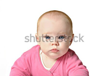 Menina branco belo seis mês velho Foto stock © tish1