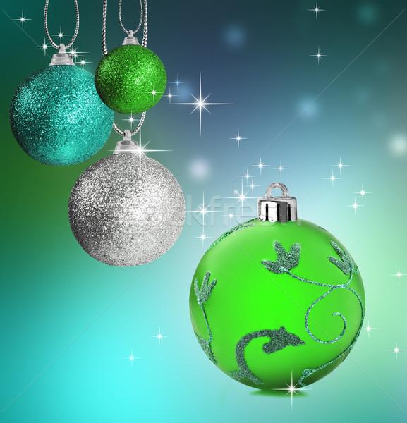 Renkli Noel önemsiz şey star arka plan Stok fotoğraf © tish1