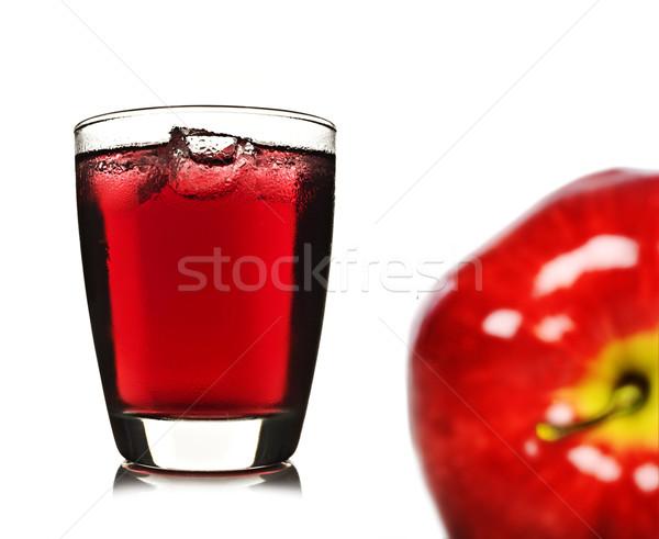 Fresco maçã suco de maçã comida fruto vidro Foto stock © tish1