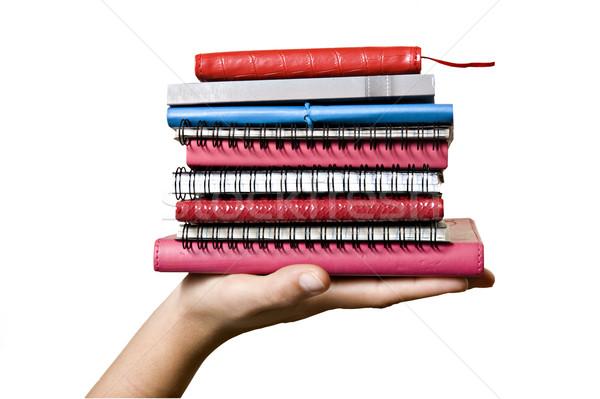 Livros mão branco papel livro Foto stock © tish1