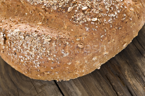 Saludable pan de trigo entero superficial campo alimentos Foto stock © tish1