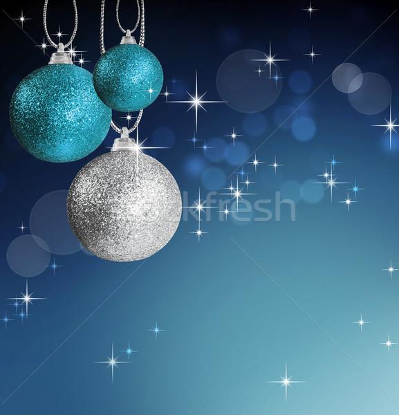 Renkli Noel önemsiz şey star mavi Stok fotoğraf © tish1