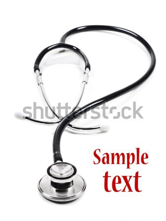 Doctor's stethoscope in the form of a questiond mark Stock photo © tish1