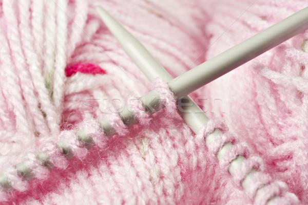 Rosa bebé hilados plumas pelota Foto stock © tish1