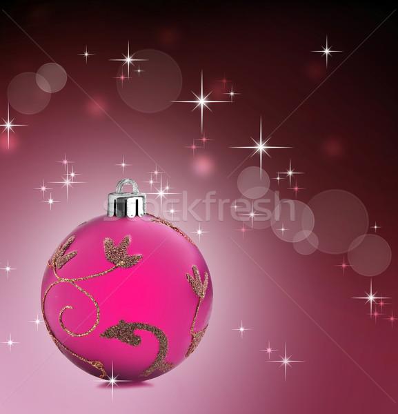 Farbenreich Weihnachten Spielerei Kugeln Sterne rosa Stock foto © tish1
