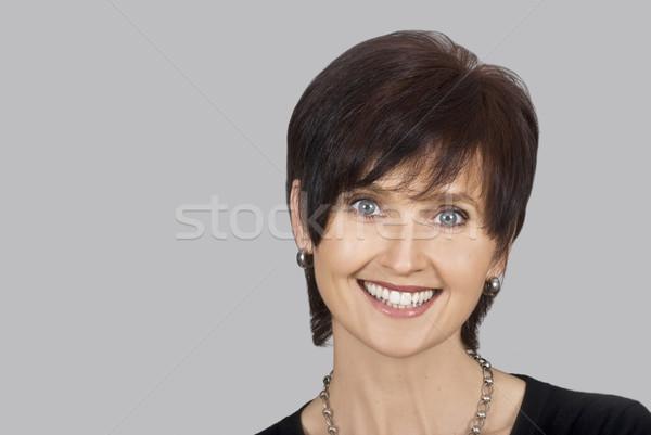 Porträt glücklich lächelnde Frau Business Frau Stock foto © tish1