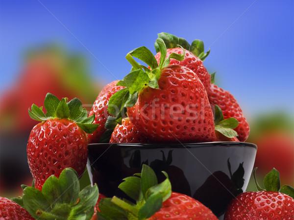 Fresche sani fragole dieta sana alimentare natura Foto d'archivio © tish1