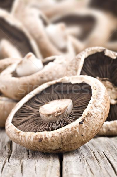 Sağlıklı taze mantar sığ alan sağlık Stok fotoğraf © tish1
