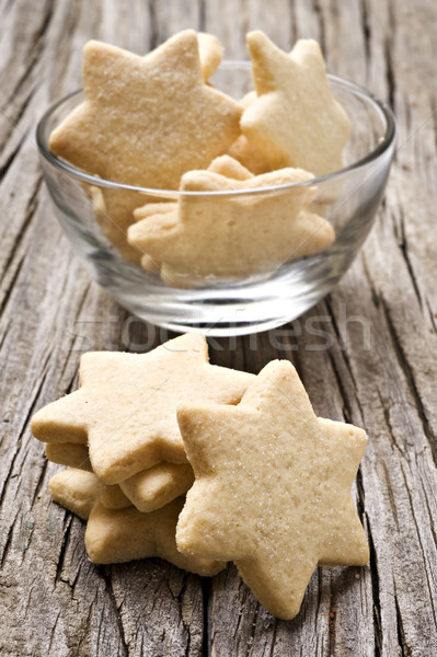Sugar coated shortbread cookies in star shapes Stock photo © tish1