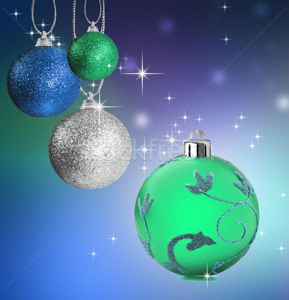 Renkli Noel önemsiz şey star yeşil Stok fotoğraf © tish1