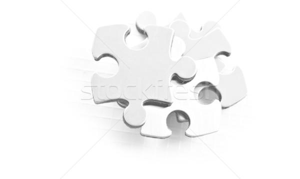 Puzzle parçaları beyaz uzay metin destek Stok fotoğraf © tish1