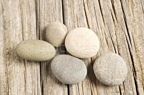Stone and wooden background Stock photo © tish1